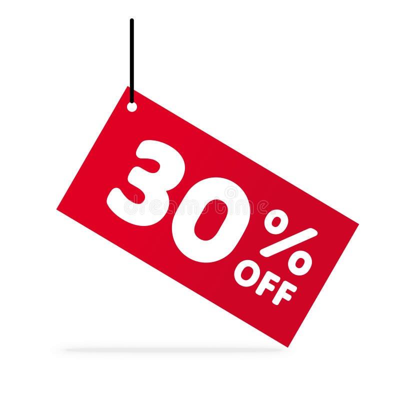 30% van korting De Prijsillustratie van de kortingsaanbieding Vectorkortingssymbool vector illustratie