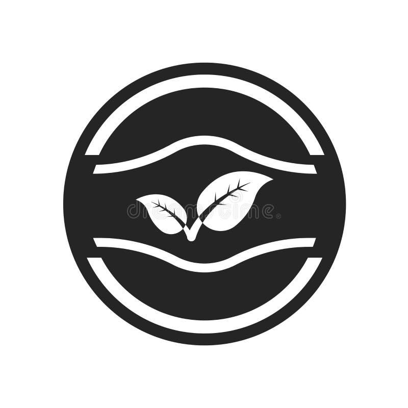Van la muestra verde y el símbolo del vector del icono de la insignia aislados en el CCB blanco libre illustration