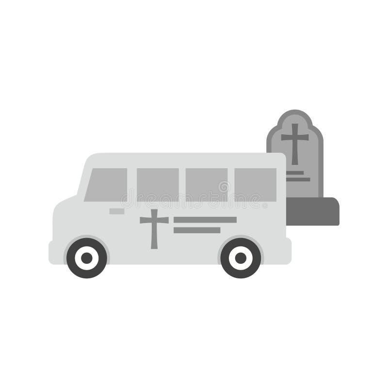 Van Leaving Graveyard royaltyfri illustrationer