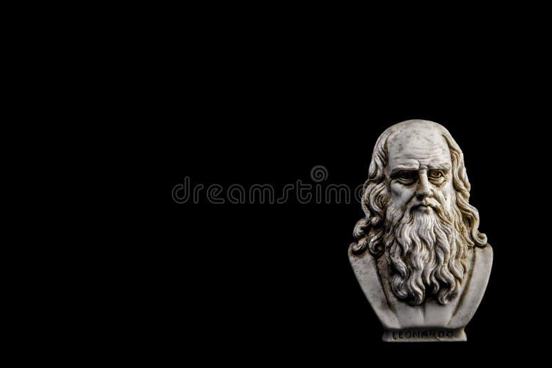 Van Leonardo da Vinci zwarte rechterkant als achtergrond royalty-vrije stock afbeelding