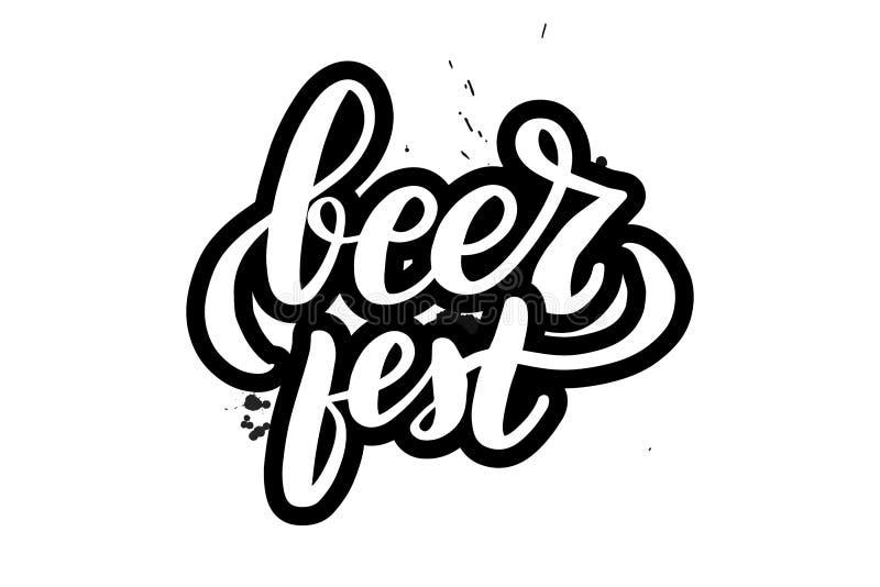 van letters voorziend bier fest vector illustratie