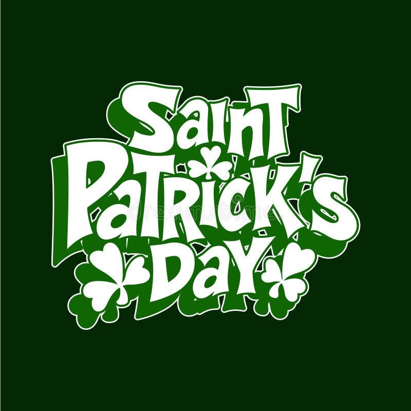 Van letters voorziend de typografiepictogram van het bierfestival voor de Dag van StPatrick stock illustratie