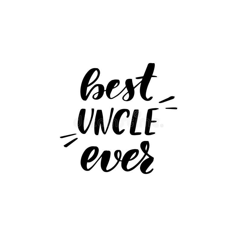 Van letters voorziende beste oom ooit vector illustratie