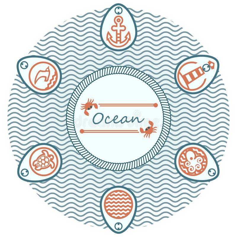 van letters voorziende oceaan royalty-vrije stock afbeeldingen
