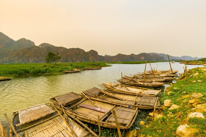 Van Long έλος σε NinhBinh, Βιετνάμ στοκ εικόνες με δικαίωμα ελεύθερης χρήσης