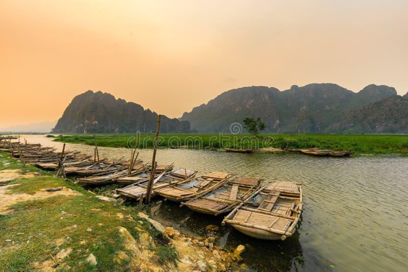 Van Long έλος σε NinhBinh, Βιετνάμ στοκ φωτογραφίες με δικαίωμα ελεύθερης χρήσης