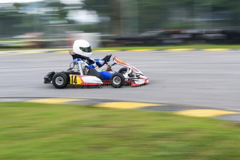 Van los deportes que compiten con del kart imagen de archivo libre de regalías