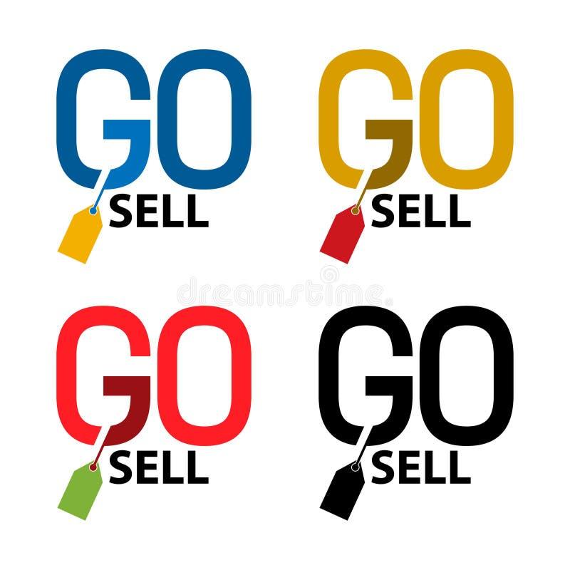 Van los iconos comunes de la venta Icono determinado colorido label Vector stock de ilustración