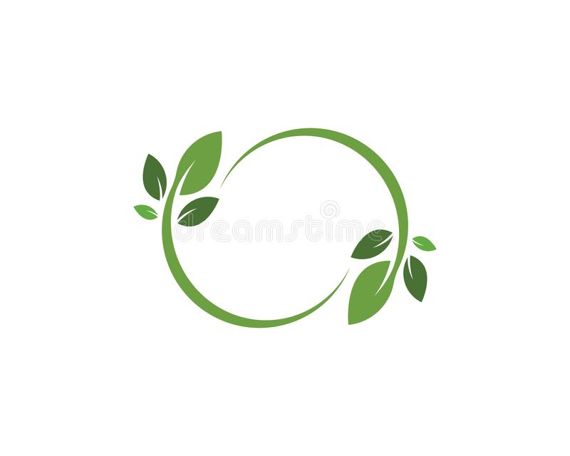 van los logotipos verdes del vector verde del elemento de la naturaleza de la ecolog?a de la hoja ilustración del vector