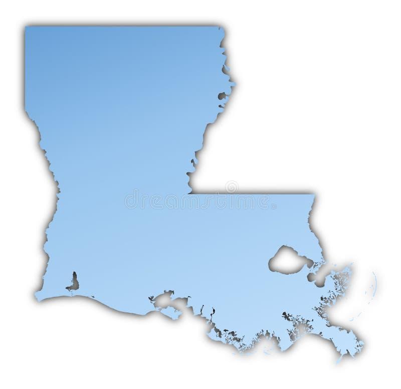 Van Louisiane (de V.S.) de kaart stock illustratie