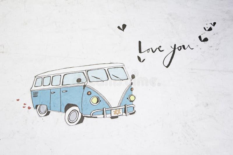 Van love hippie photos stock