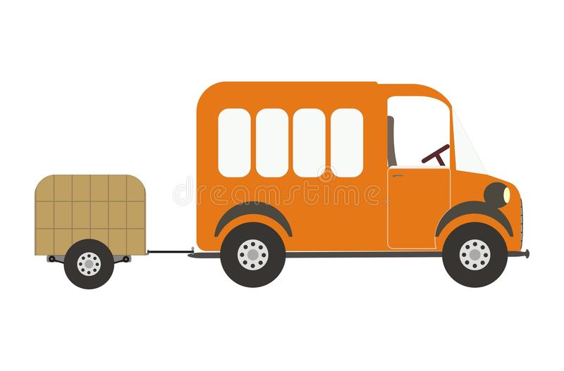 Download Van and luggage car stock vector. Image of vehicle, black - 12750697