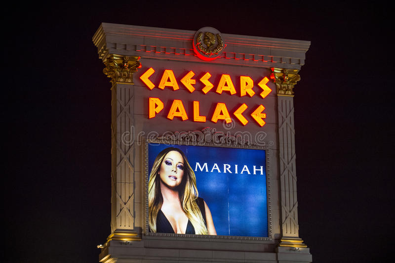 Van Mariah Carey 'MARIAH 1 AAN de ONEINDIGHEIDS' affiche in Las Vegas stock foto's