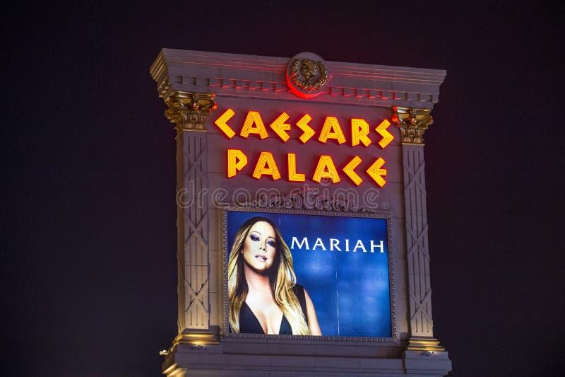 Van Mariah Carey 'MARIAH 1 AAN de ONEINDIGHEIDS' affiche in Las Vegas royalty-vrije stock afbeelding