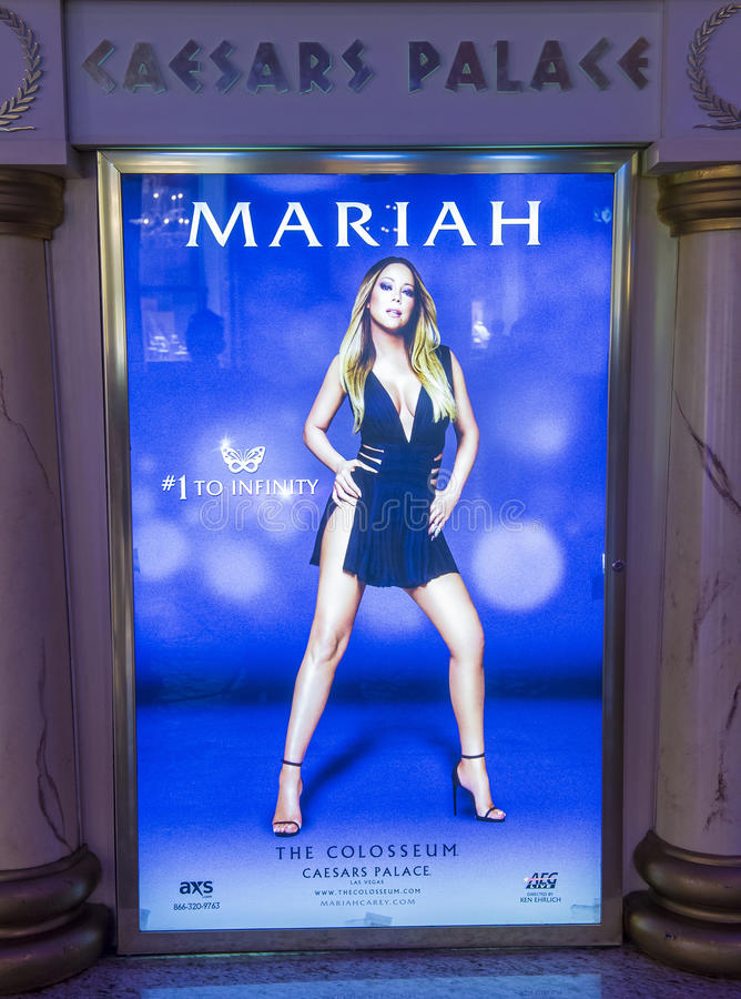 Van Mariah Carey 'MARIAH 1 AAN de ONEINDIGHEIDS' affiche in Las Vegas stock foto
