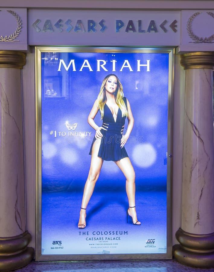 Van Mariah Carey 'MARIAH 1 AAN de ONEINDIGHEIDS' affiche in Las Vegas stock fotografie
