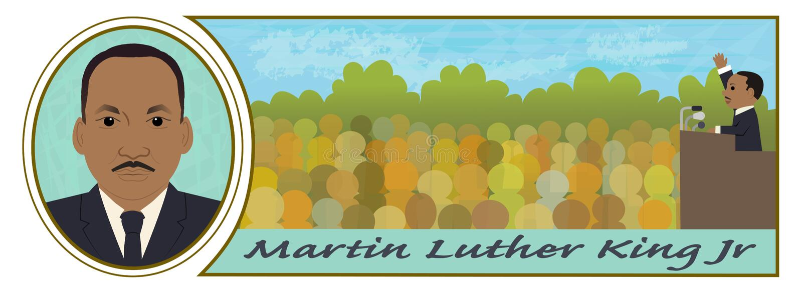 van Martin Luther King royalty-vrije illustratie
