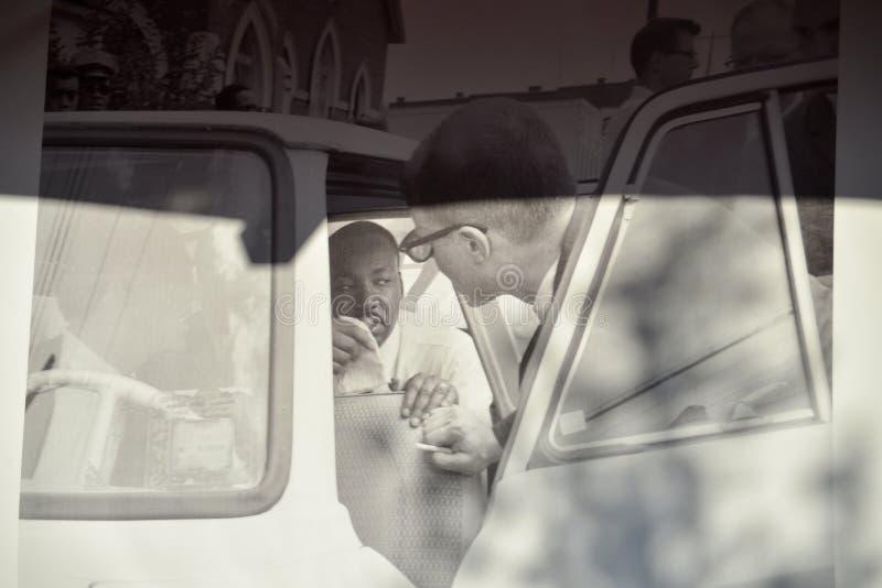 van Martin Luther King en Malcolm X-Vertoning Memphis, Tennessee stock fotografie