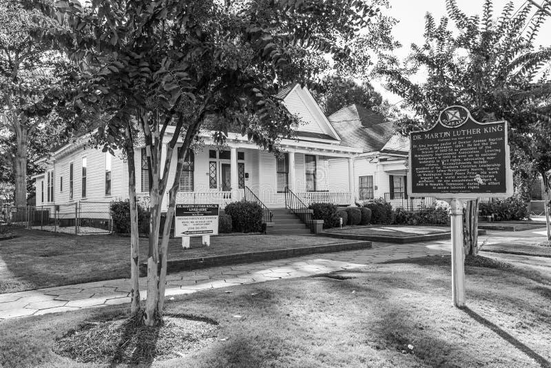 van Martin Luther King Pastoriehuis in Montgomery, Alabama stock fotografie