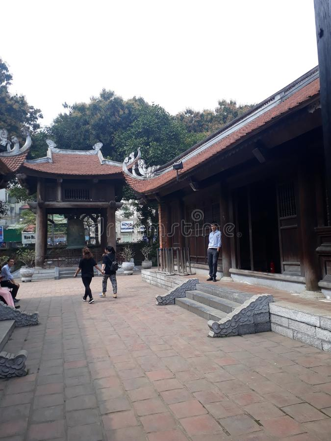 Van Mieu-pagode royalty-vrije stock afbeeldingen