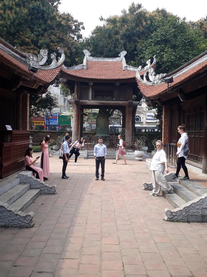 Van Mieu-pagode royalty-vrije stock foto