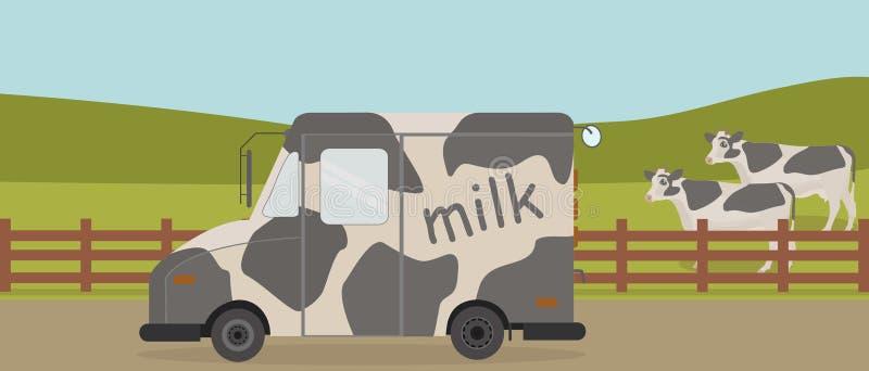 Van milk stock afbeelding