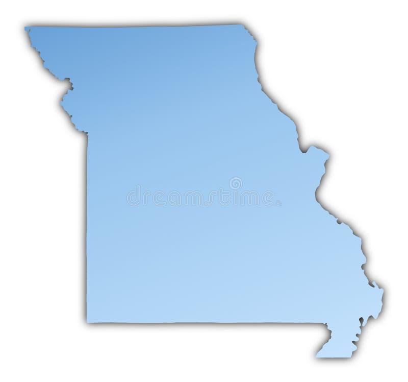 Van Missouri (de V.S.) de kaart royalty-vrije illustratie
