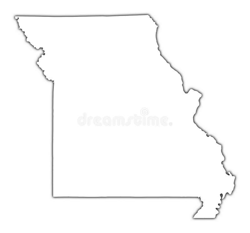 Van Missouri (de V.S.) het overzichtskaart royalty-vrije illustratie