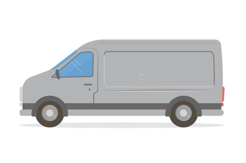 Van mock-up Plantilla del diseño para los diversos servicios: entrega, reparación, soporte técnico, aislado en el fondo blanco ilustración del vector