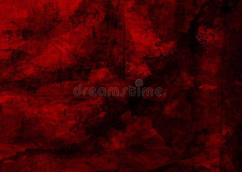 Van mysticus Donkerrood Oud Grunge Vervormd Rusty Decay Broken Abstract Texture Behang Als achtergrond stock foto