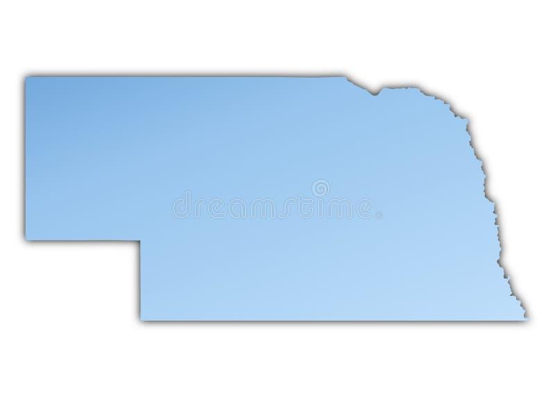 Van Nebraska (de V.S.) de kaart vector illustratie