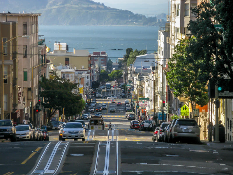 Van Ness Avenue in San Francisco lizenzfreie stockfotografie