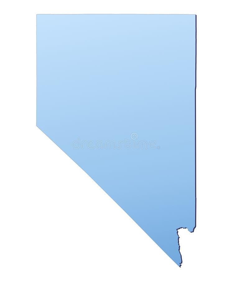 Van Nevada (de V.S.) de kaart royalty-vrije illustratie