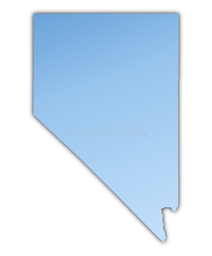 Van Nevada (de V.S.) de kaart vector illustratie