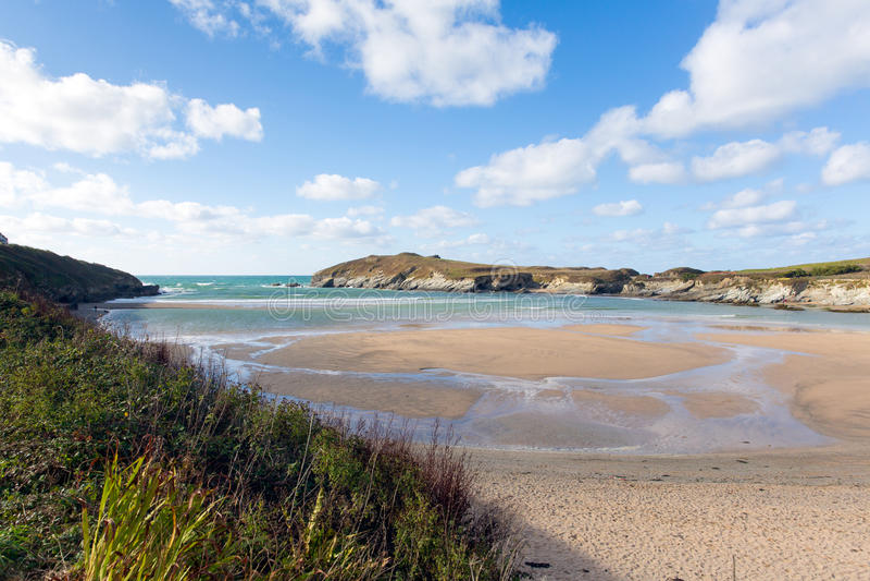 Van Noord- newquay van het Porthstrand Cornwall Engeland het UK royalty-vrije stock foto's