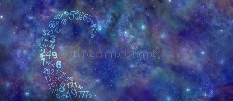 Van Numerology van Vortexings Kosmische Aantallen Banner Als achtergrond stock foto