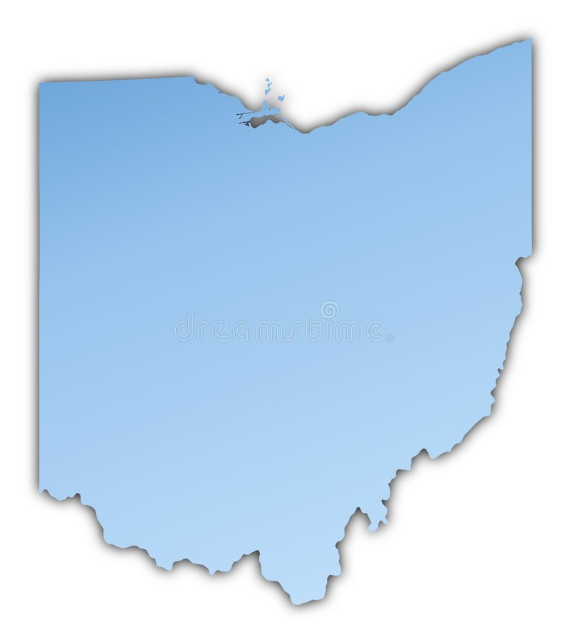 Van Ohio (de V.S.) de kaart royalty-vrije illustratie