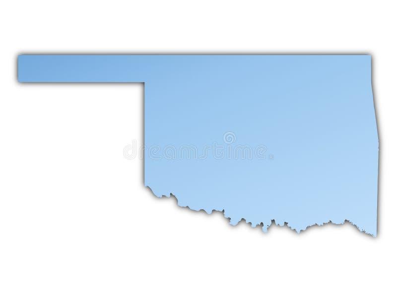 Van Oklahoma (de V.S.) de kaart royalty-vrije illustratie