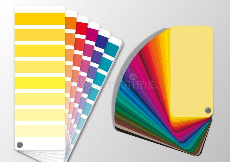 Van pantone hks ventilators van kleurenventilators ral de lijstwaarden cmyk stock illustratie