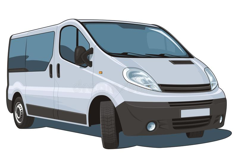 Van passenger και φορτίο ελεύθερη απεικόνιση δικαιώματος