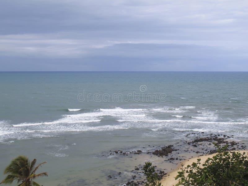 Van Pipastrand en Baia Dos Golfinhos - het Strand van Geboorte, Rio Grande doet Norte, noordoostelijke kust van Brazilië royalty-vrije stock foto's