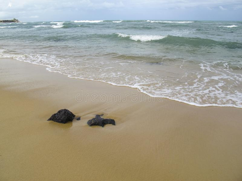 Van Pipastrand en Baia Dos Golfinhos - het Strand van Geboorte, Rio Grande doet Norte, noordoostelijke kust van Brazilië stock afbeelding