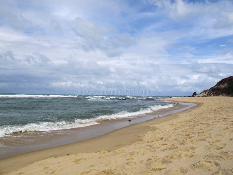 Van Pipastrand en Baia Dos Golfinhos - het Strand van Geboorte, Rio Grande doet Norte, noordoostelijke kust van Brazilië royalty-vrije stock foto