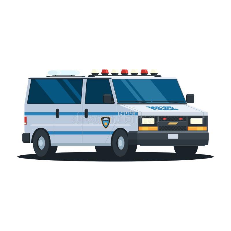 Van Police Department royalty free illustration