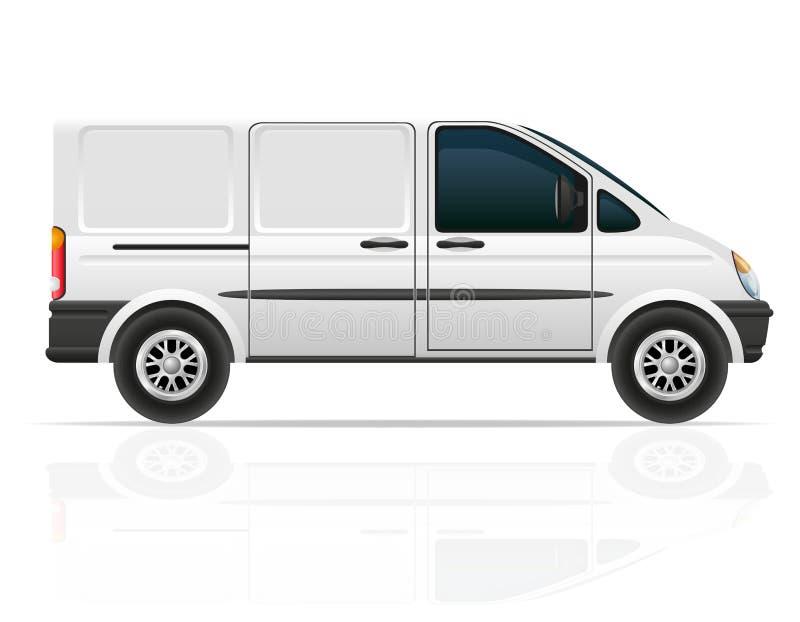 Van pour le chariot de l'illustration de vecteur de cargaison illustration libre de droits