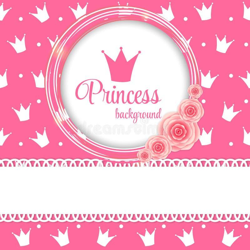 Van prinsesCrown Vectorillustratie Als achtergrond royalty-vrije illustratie