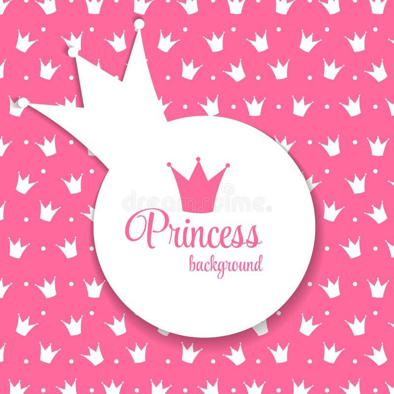 Van prinsesCrown Vectorillustratie Als achtergrond vector illustratie