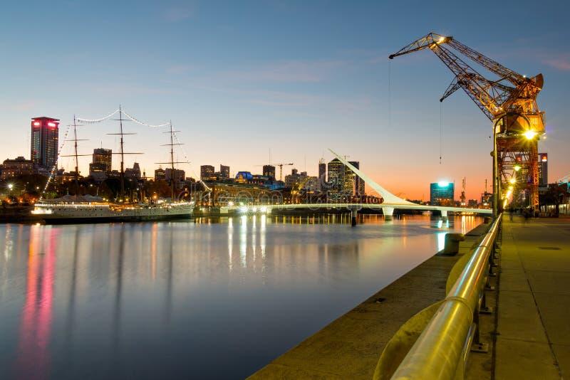 Van Puertomadero (haven) het moderne deel van Buenos aires Argentinië stock fotografie