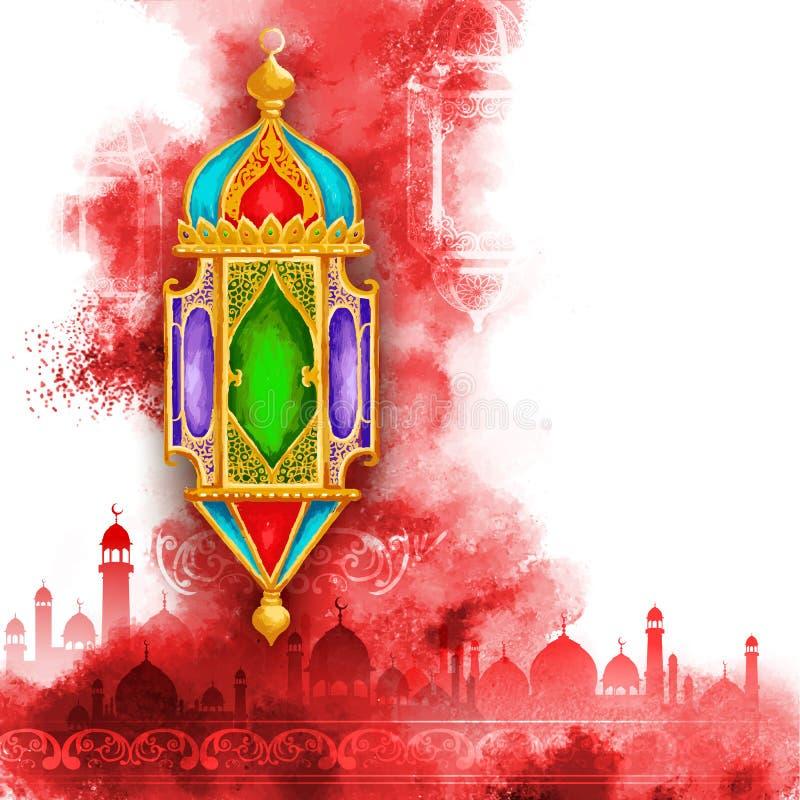 Van Ramadan Kareem (Grootmoedige Ramadan) de achtergrond stock illustratie