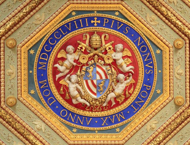 Van Raphael Rooms (Stanze Di Raffaello) het detail, Vatikaan, Rome royalty-vrije stock afbeeldingen